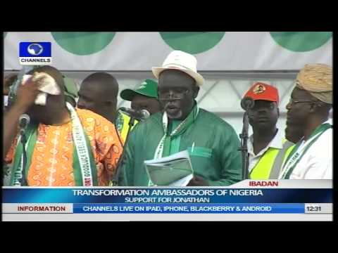 Transformation Ambassadors Of Nigeria (TAN) Brings Rally For Jonathan To Ibadan Pt.2