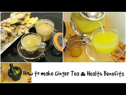 Ginger Root Health Benefits of ginger Tea Recipe with Honey for Cold Weight Loss Hair Growth.
