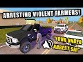 SHERIFF SQUAD REPORTING FOR DUTY...IMPOUNDING FARMER'S TRUCKS | FARMING SIMULATOR 2017