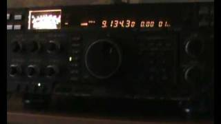 E10 9130KHz Spy Numbers Station being Jammed  24/02/09 18.00z (audio/video high quality)