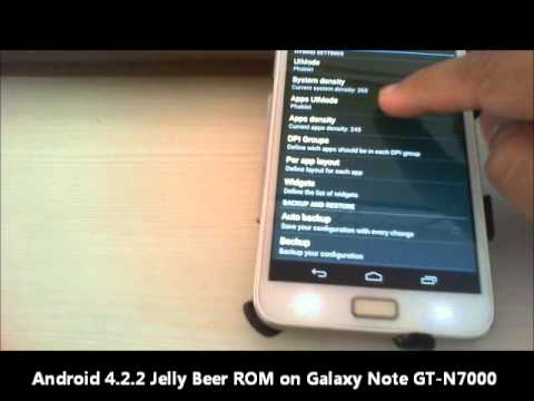 Android 4.2.2 on Galaxy Note GT-N7000 - Jelly Beer