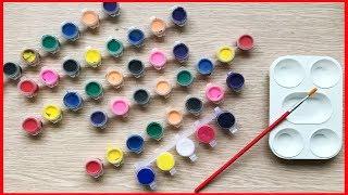 ĐỒ CHƠI TÔ MÀU NƯỚC - Cách pha trộn màu từ 5 màu cơ bản nhất - Colors mix toyskids (Chim Xinh)