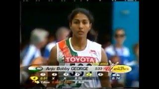 Indian Athlete Anju Bobby George's Long Jump at World Athletic Championships 2003