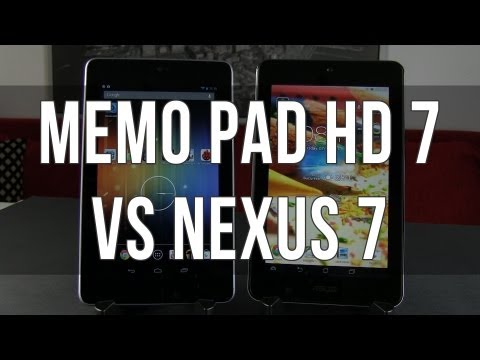 ASUS MeMO Pad HD 7 vs Google Nexus 7 comparison