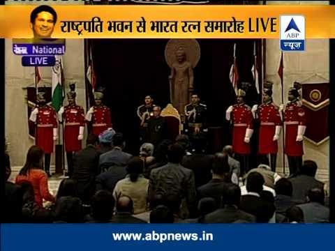 Sachin, Prof C N R Rao given Bharat Ratna
