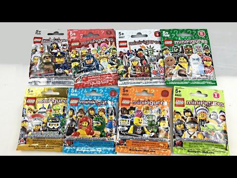 Random LEGO Minifigures Unboxing - 8 blind bags!