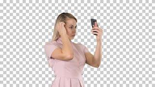 Preening Using Smartphone Screen Stock Video