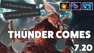 Waga plays mid Disruptor with SingSing in 7.20 - THUNDER COMES!