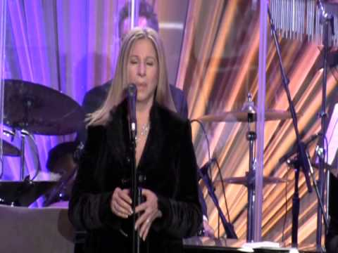 Barbra Streisand sings