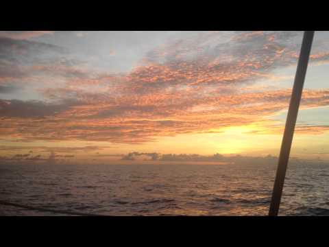 sunset in north pacific - ITCZ