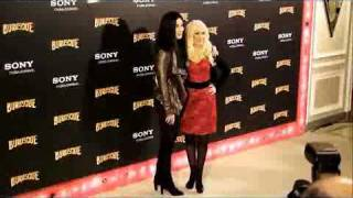 Cher and Christina Aguilera present Burlesque in Madrid (09.12.2010)