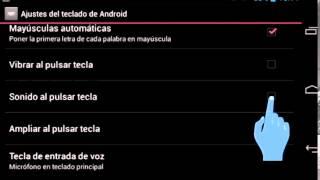 Cómo activar sonido y vibración en el teclado en los dispositivos PiPO con Android 4.2.2