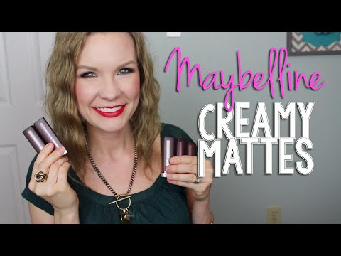 Maybelline Color Sensational Creamy Mattes Haul, Swatches, & 1st Impressions!
