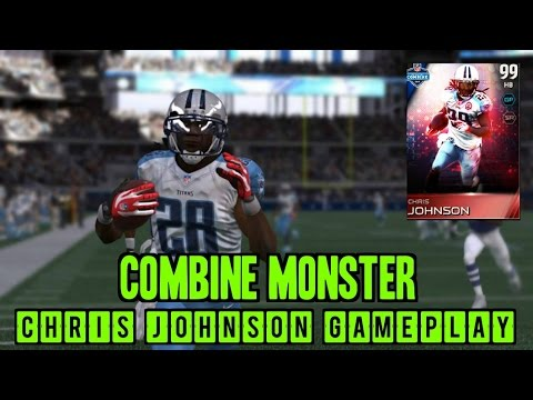 Madden 15 Ultimate Team 99 Overall Combine Monster Chris Johnson Gameplay And Review!!