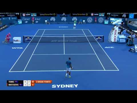 Bernard Tomic v Marinko Matosevic - Highlights  Men's Singles Rd 1: Sydney International 2013