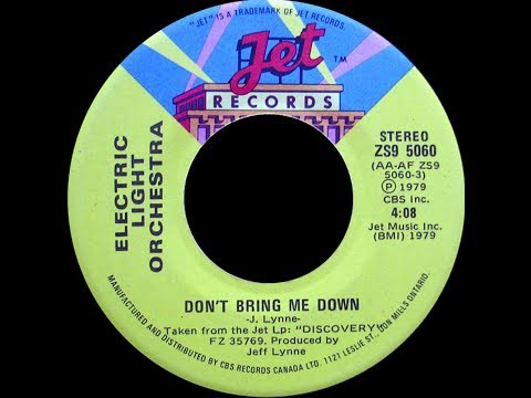 Electric Light Orchestra ~ Don't Bring Me Down 1979 Disco Purrfection Edit