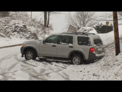 how to drive in snow when sliding