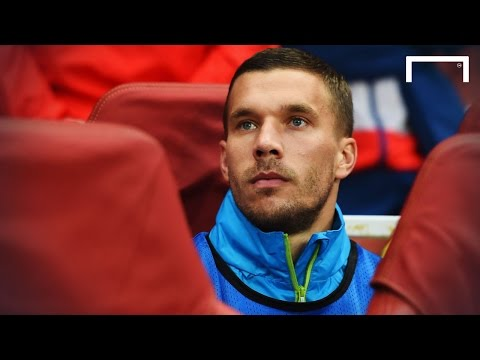 Lukas Podolski contemplating Arsenal exit