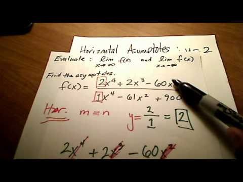 Calc I: Horizontal & Vertical Asymptotes with Limits ...