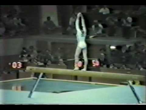 2nd AA Nadia Comaneci BB - 1980 Olympic Games 9.850.avi