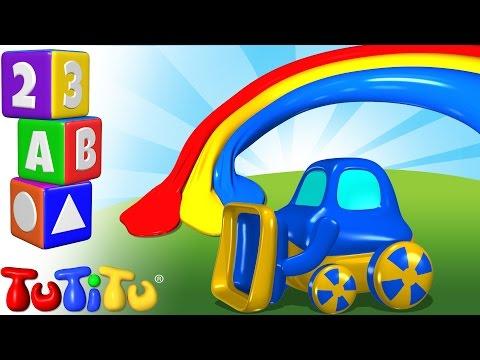 TuTiTu Przedszkole | Nauka Kształtów Po Angielsku Dla Dzieci | Kolorów Traktor