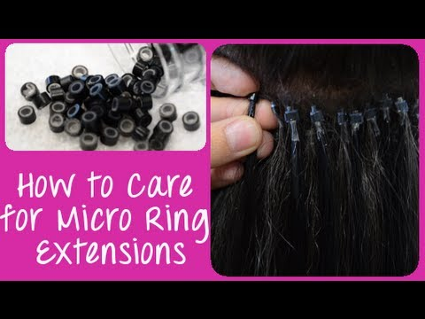 How to Care for Micro Link / Micro Ring Cold Fusion Hair Extensions   Instant Beauty ♡