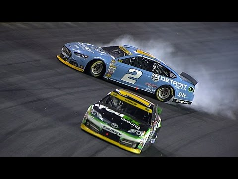 Keselowski, Hamlin tangle post race @ 2014 NASCAR Sprint Cup Charlotte