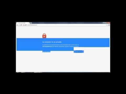 error Ssl (La Conexion no es Privada ) 2014 HD *Loquendo*