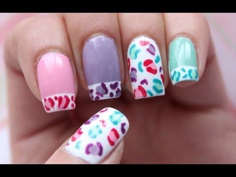 Pastel Cheetah Print Nails