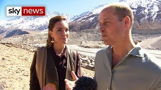 William and Kate visit melting glacier in Pakistan