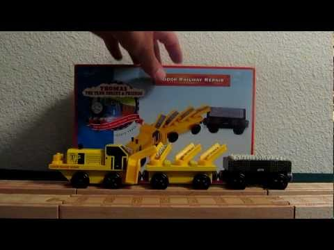 Thomas Wooden Railway Rare 1998 Sodor Railway Repair Review