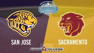 CCCAA Softball: Sacramento City vs San Jose (Consolation Bracket) - 5/18/19 - 11:30pm