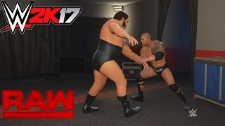 WWE 2K17- André the Giant try attack The Rock from behind at Backstage Brawl(PS4)