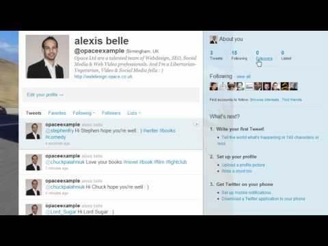 Twitter Basics (Part 7) - Direct Messaging (DM's) and Retweets - Opace Twitter Video Tutorials