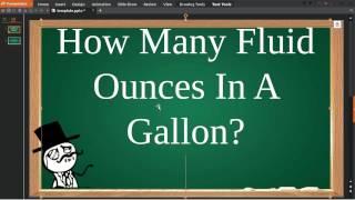 How Many Fluid Ounces In A Gallon