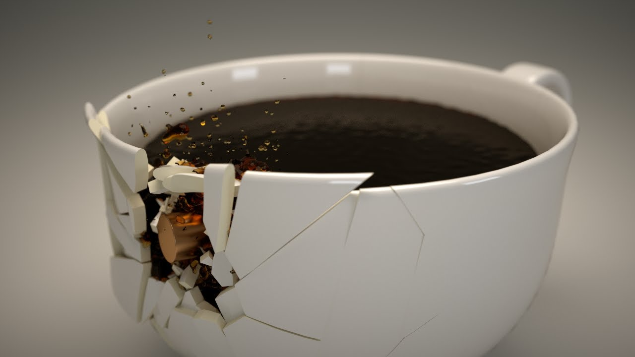 Shattering A Coffee Cup Part 05 Compositing In Blender