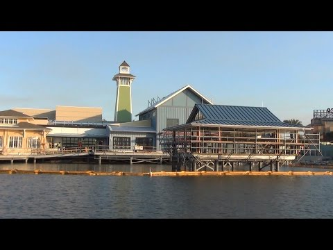Downtown Disney Overview Including The BOATHOUSE & The Hangar Restaurant Construction