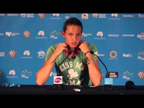 Karolina Pliskova press conference (final) - Apia International Sydney 2015