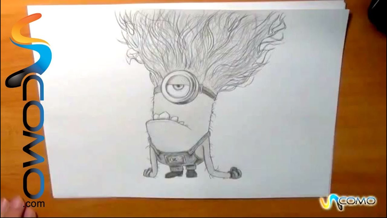 Dibujar Minion morado ...