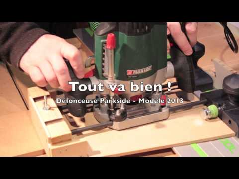 Defonceuse Parkside avec rail Festool -  Video 88