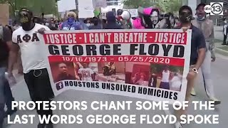 Peaceful protests for George Floyd turned disruptive in Houston