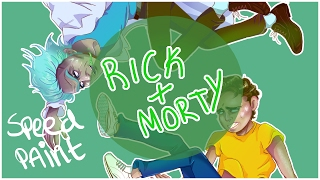 [SPEEDPAINT]- RICK AND MORTY- Rick Sanchez and Morty Smith