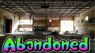 Abandoned Factory With Lots Of Graffiti