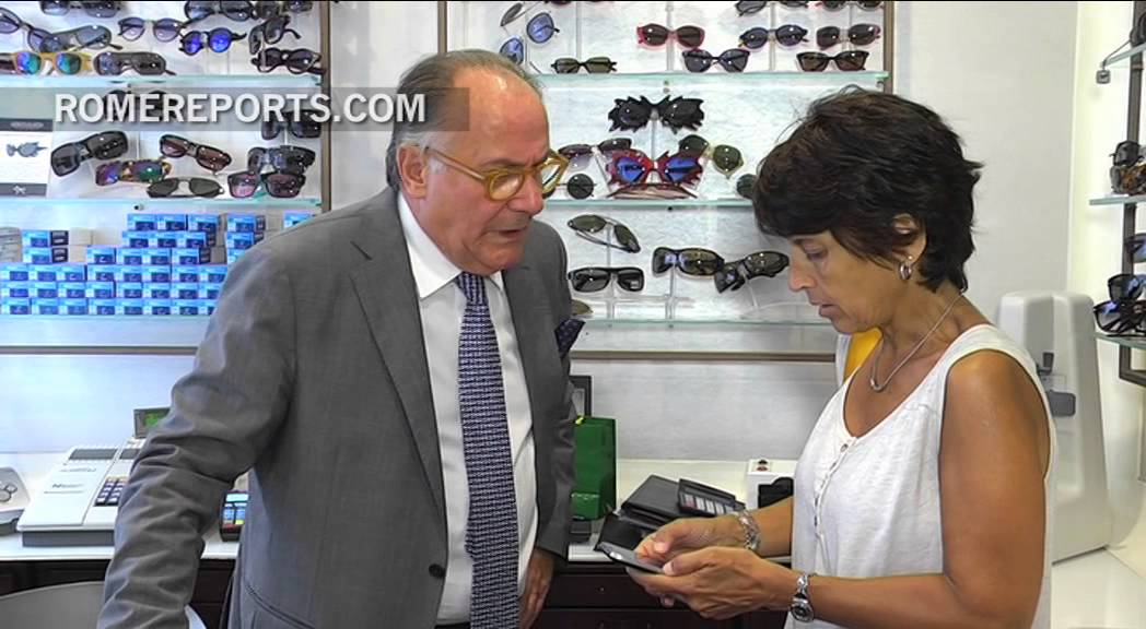 Need to 'see' it to believe it. Pope Francis goes to local eye wear shop to buy glasses