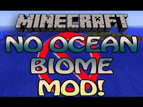 Minecraft No Ocean Biomes Mod for 1.2.5