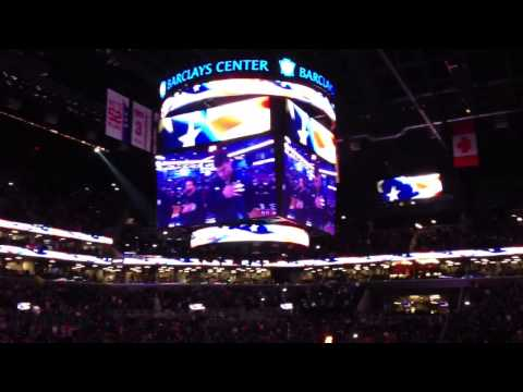 Jerry Stackhouse singing the National Anthem Live - 4/20/2013
