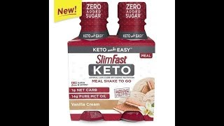 SlimFast Keto Vanilla meal replacement shake Review