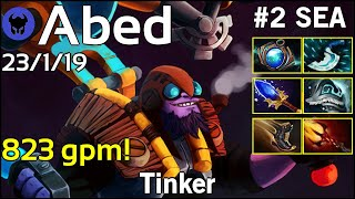 823 gpm! Abed [Fnatic] plays Tinker!!! Dota 2 7.21