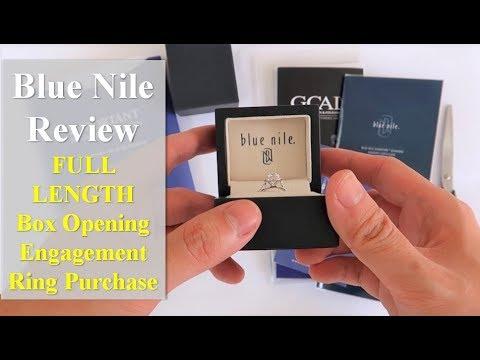 Blue Nile Engagement Ring Unboxing