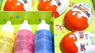 Easter Egg Painting Set with 4 Kinder Surprise Eggs
